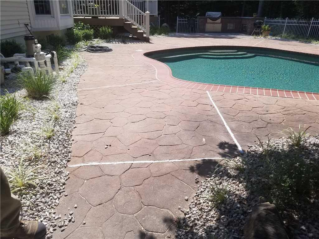 Stamped Concrete Pool Deck Raised in Waldorf, MD - After Photo