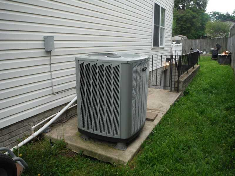 Void Fill Beneath Air Conditioning Unit in Pasadena, MD - Before Photo