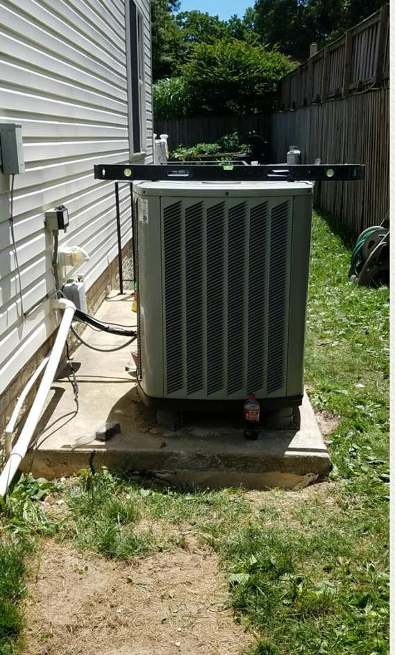 Void Fill Beneath Air Conditioning Unit in Pasadena, MD - After Photo