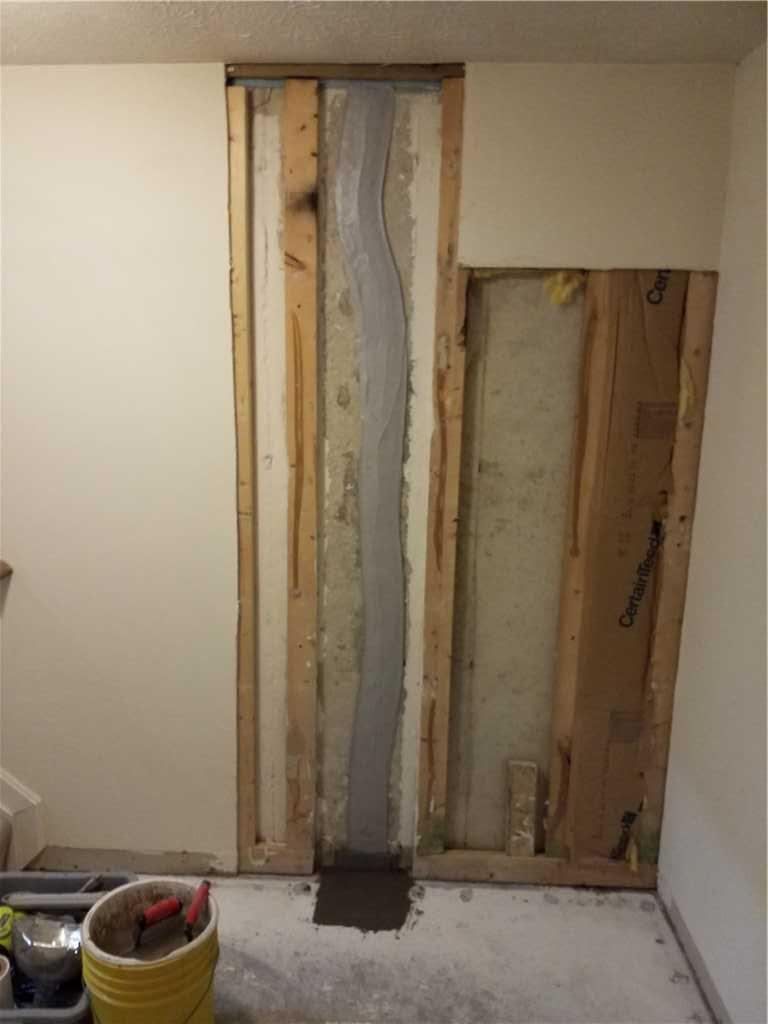 Leaky Wall Permanently Fixed in Glen Burnie, MD - After Photo