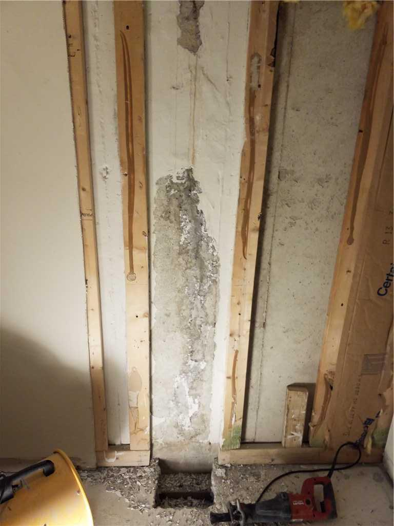 Leaky Wall Permanently Fixed in Glen Burnie, MD - Before Photo