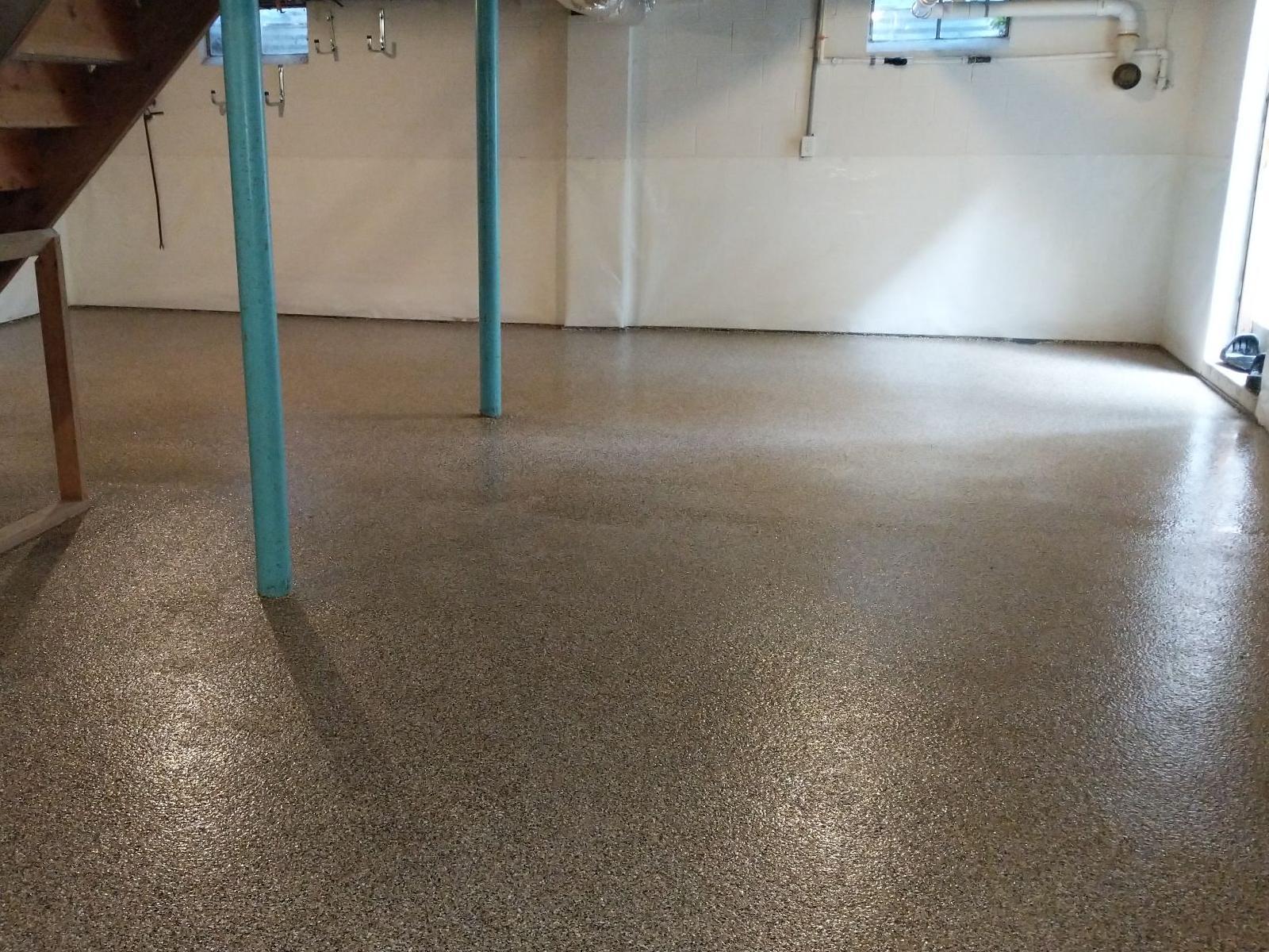 Basement Floor Transformed with SparTek Concrete Floor Coating in Rehoboth Beach, DE - After Photo