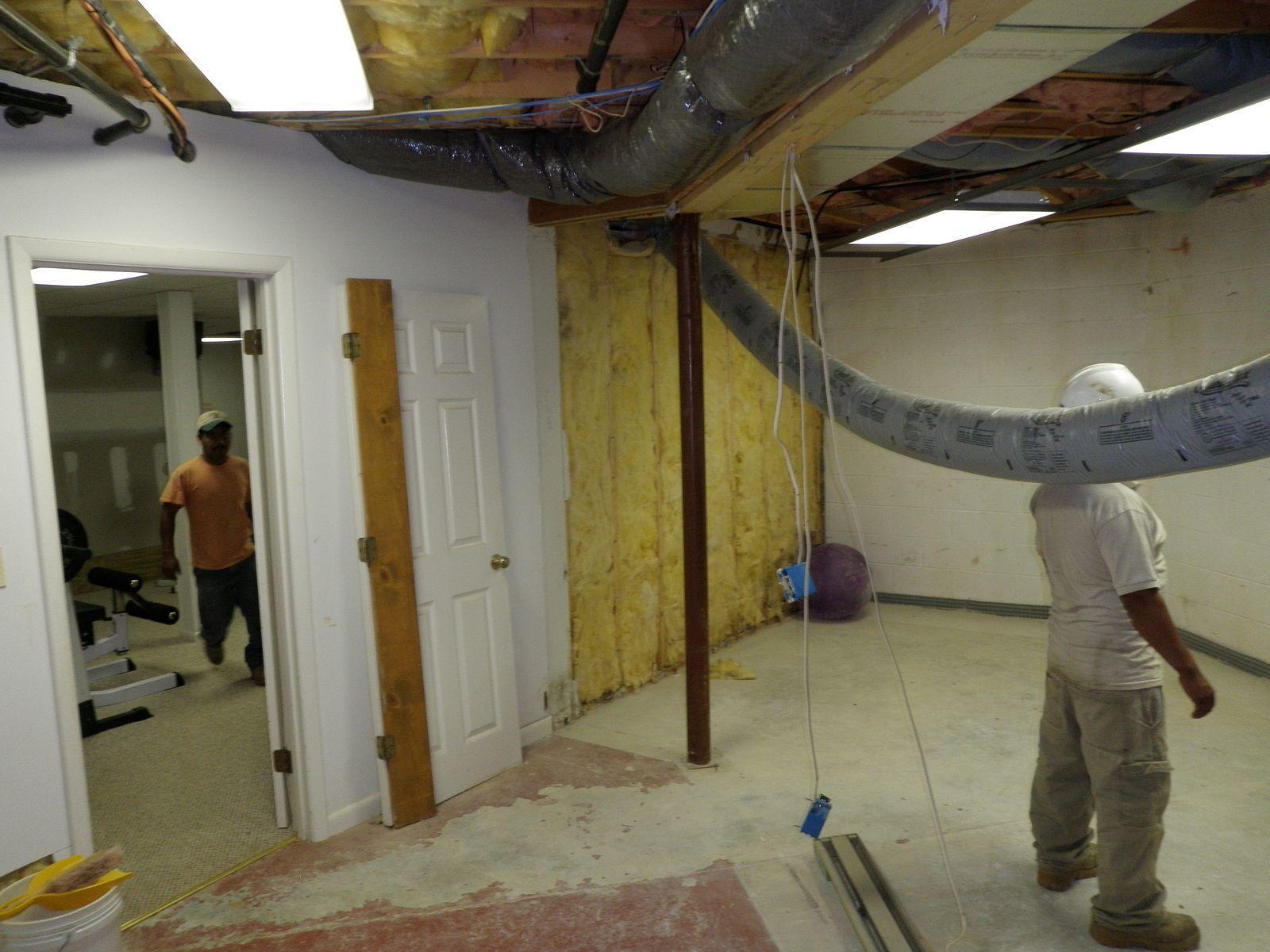 Basement repairs in Middletown, DE - Before Photo