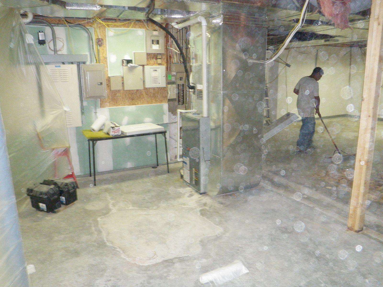 Restored basement in Middletown, Delaware - Before Photo