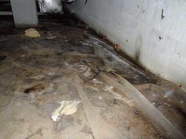 Repairing the Stockton, Maryland Crawl Space