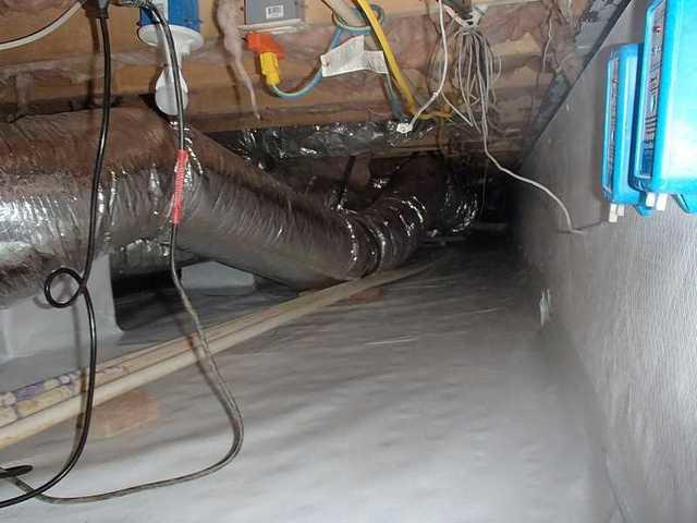 Cleaning the Crawl Space in Sharptown, MD