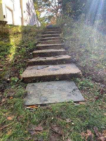 Backyard Stairs Restored to Use with PolyLevel in Hockessin, DE