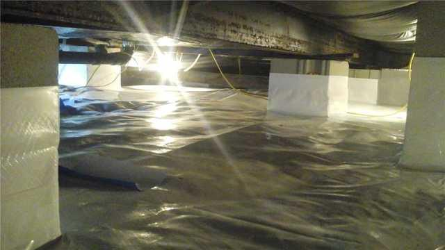 Ridgely, MD Finished Crawl Space