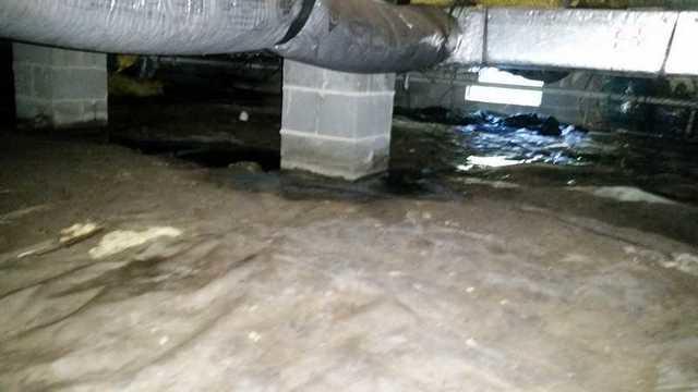 Full Encapsulated Crawl Space in Preston, MD