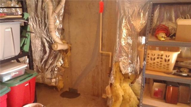 A failed basement wall crack repair in Lewes Delaware