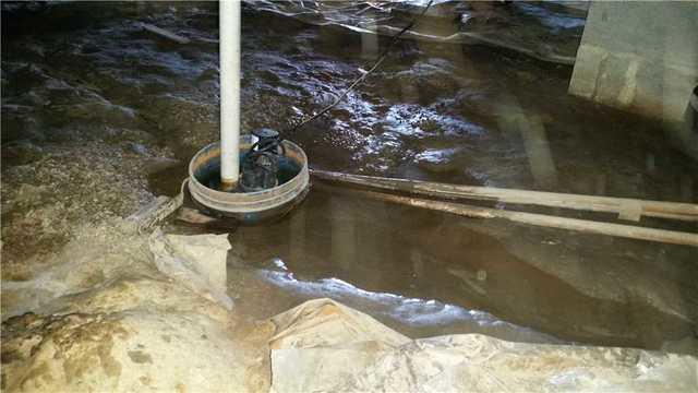 A Wet Crawl Space in Greenwood, DE is Transformed - Before Photo