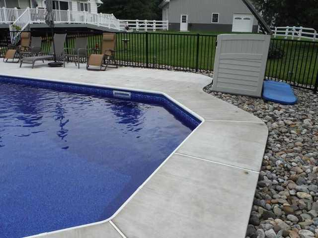 Pool Sidewalks Lifted in Middletown, DE with No Drill Points
