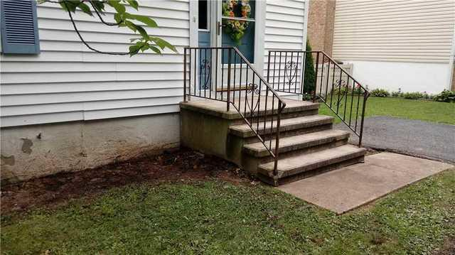 Helical Piers Lift Sinking Steps in Rosedale, MD
