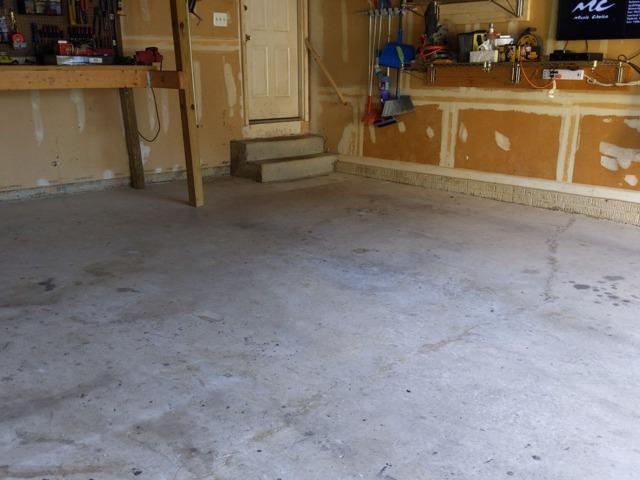 Concrete Floor Coating in Bear, DE - Before Photo