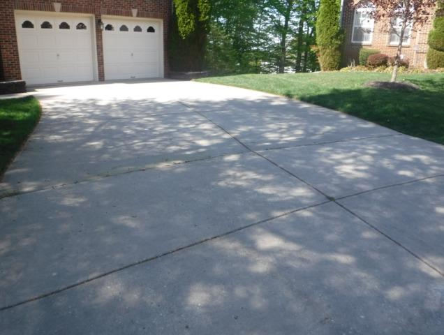 Upgrading a Driveway in Bowie, MD - Before Photo