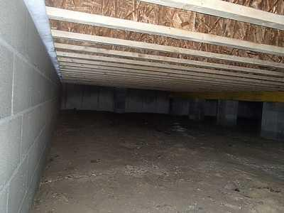 Laurel home has a great CleanSpace vapor barrier installed in the crawlspace