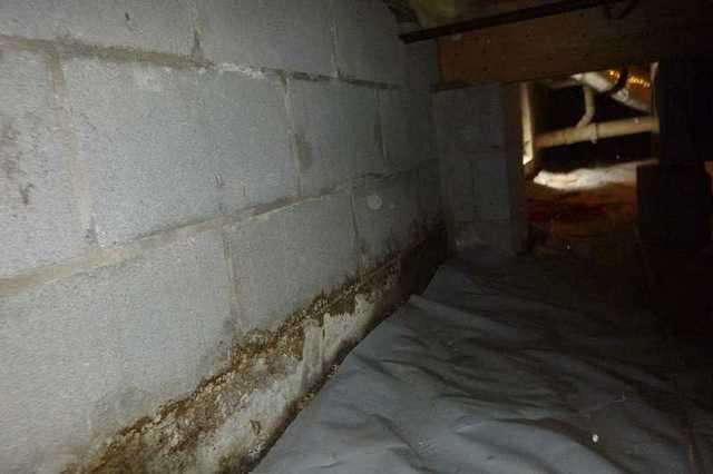 Repairing the Crawl Space in Tangier, VA