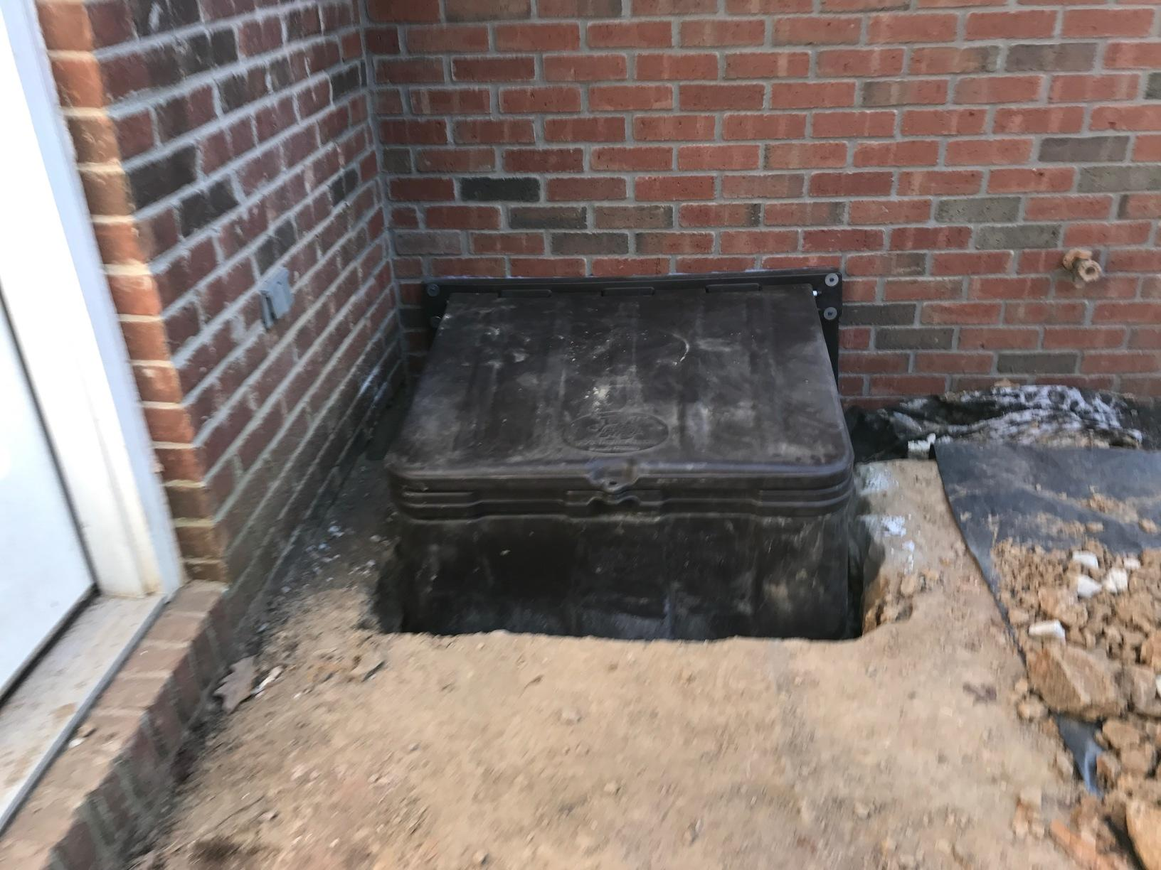 Crawl Space Access Well Installed in Celestine, IN - After Photo