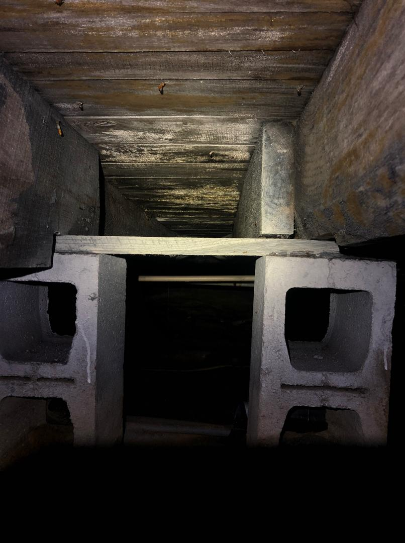 Crawl Space Jack Posts Repair in Lewisport, KY - Before Photo