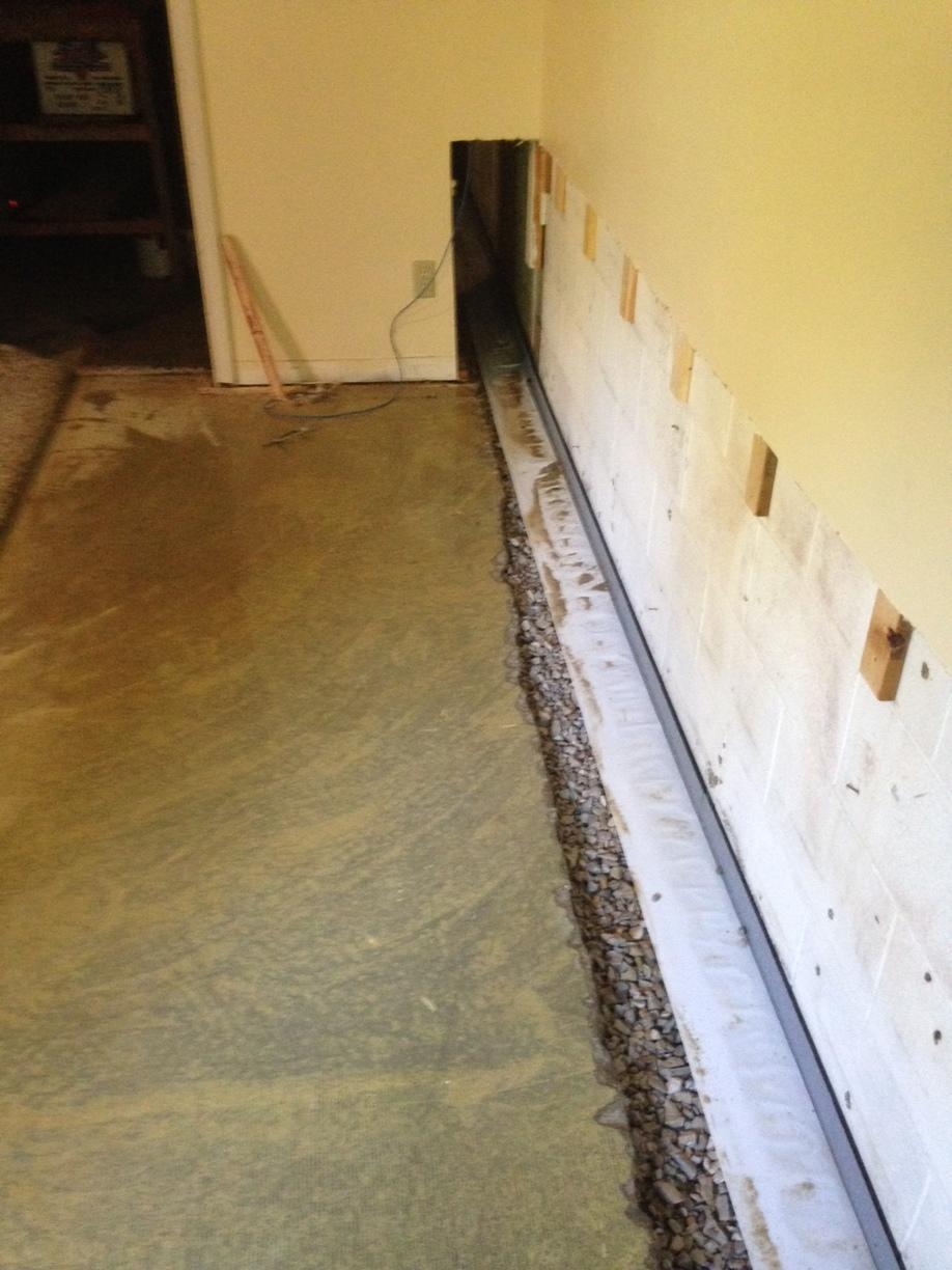 WaterGuard Installation to Keep Hardin, KY Basement Dry  - After Photo