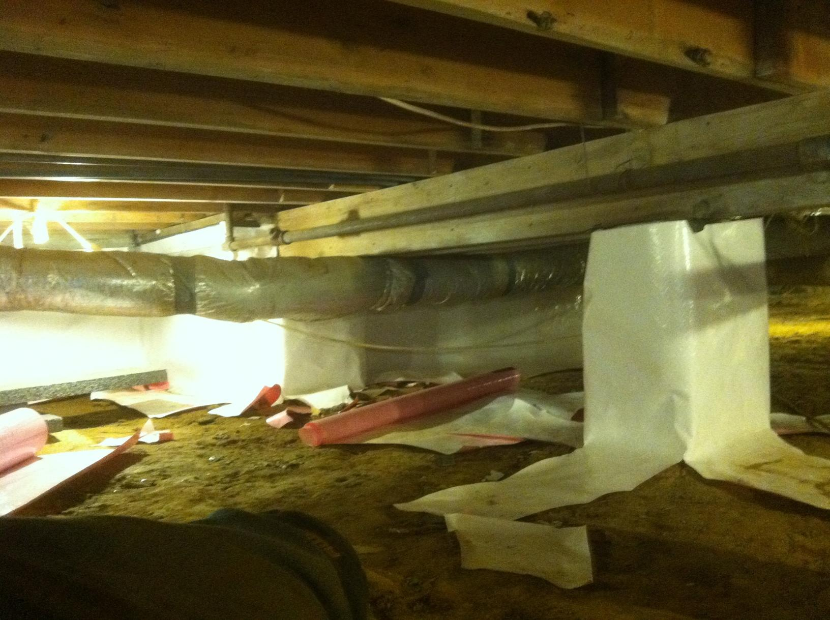 Jasper, IN Crawlspace Encapsulation - Before Photo