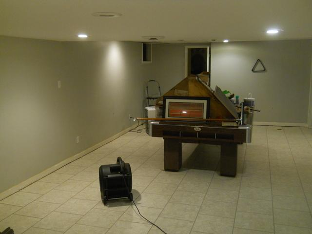 Basement Water Intrusion in Mortons Gap, KY - Before Photo