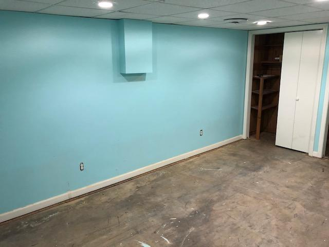 Basement Refinished in Mortons Gap, KY - Before Photo