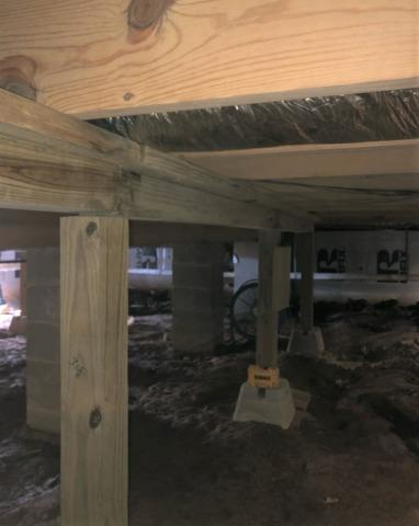 Sloping Floors Above a Hanson, KY Crawl Space