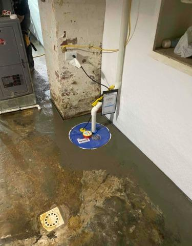 Thorough Waterproofing in a Hartford, KY Basement