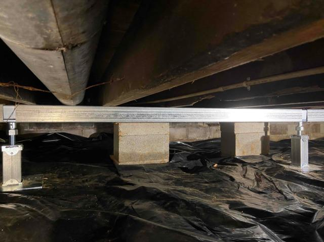 Sagging and Sinking Crawl Space in Hartford, KY
