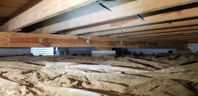 Wet Crawl Space in Boonville, IN