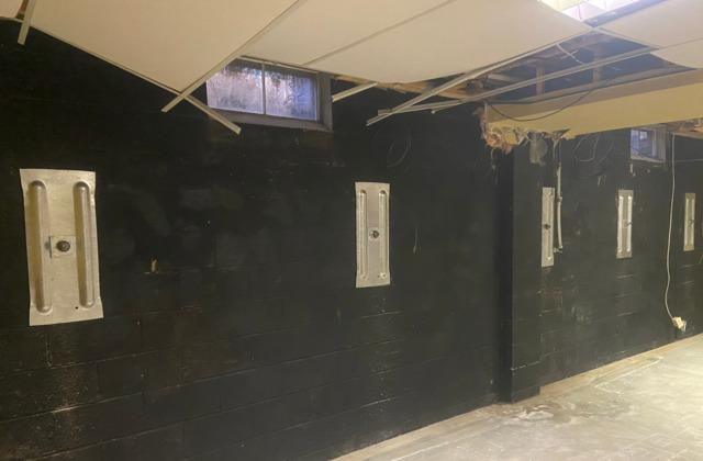 Bowing Wall Repaired in Tennyson, IN