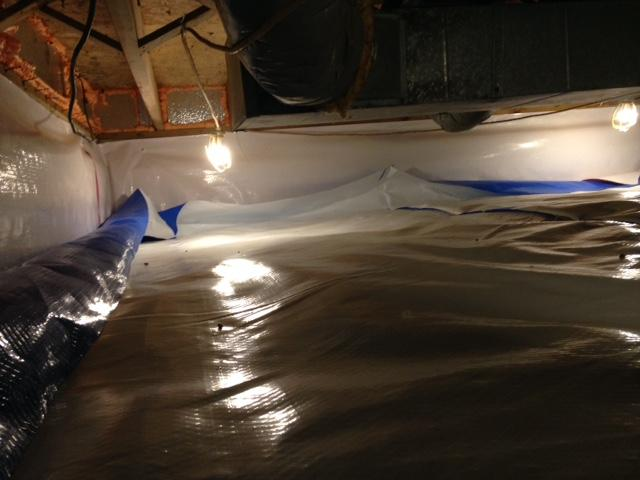 Crawlspace Vapor Barrier Installation in Bradenburg, KY