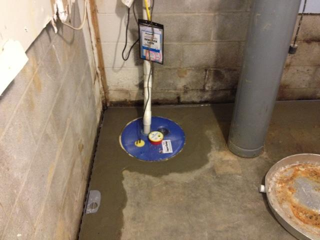 Sump Pump Resolves Wet Basement Issues in Radcliff KY