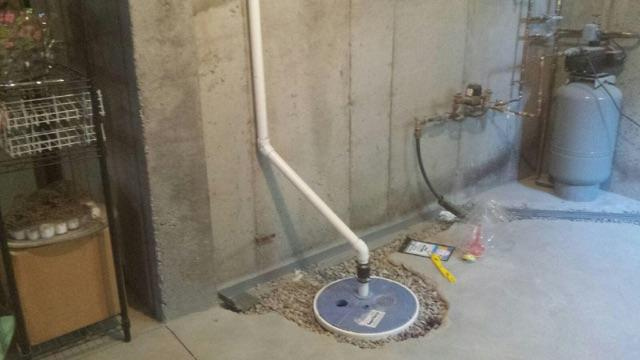 Updated Sump Pump System in South Kingstown, Rhode Island