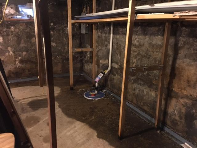 Basement Sump Pump and French Drain Installation in Lincoln, RI