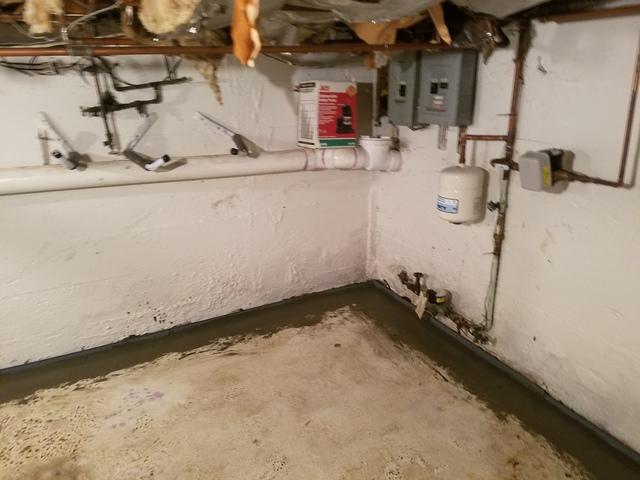 Basement Drain Installation in Warwick, RI