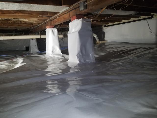 WET Crawlspace in Scituate, MA