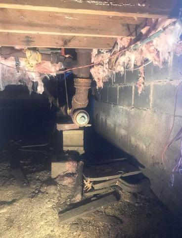 Gross Crawlspace Cleanout in Mattapoisett, MA