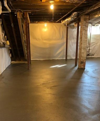 New Floor and Waterproofing in Waban, MA