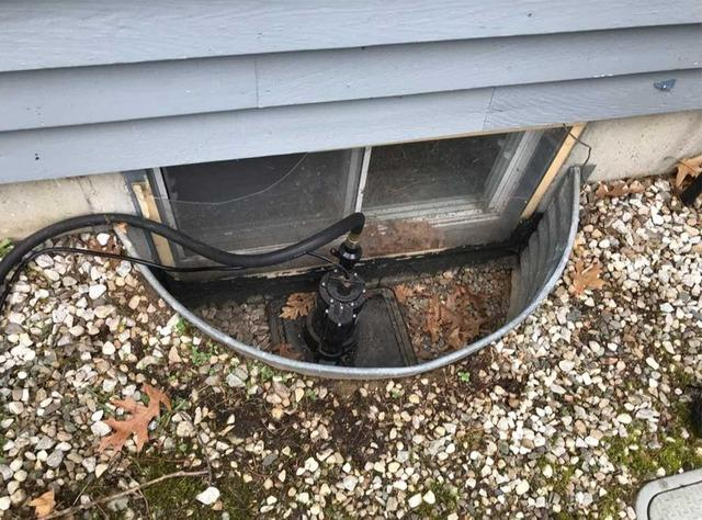 Leaky Window Well in Canton, MA