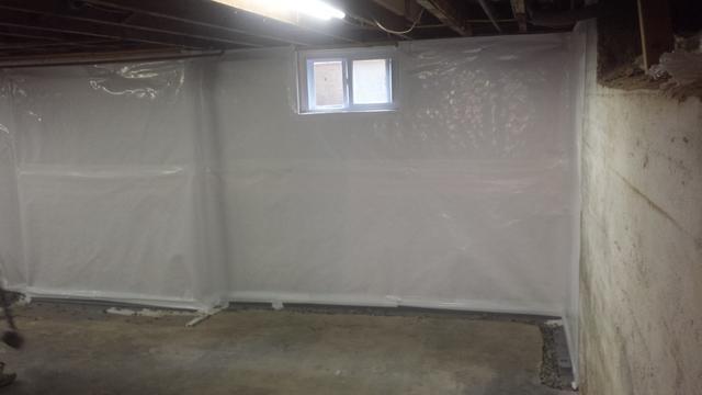 Waterproofed Basement in Providence, RI