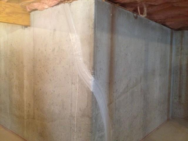 Basement Crack Repair in South Weymouth, MA!