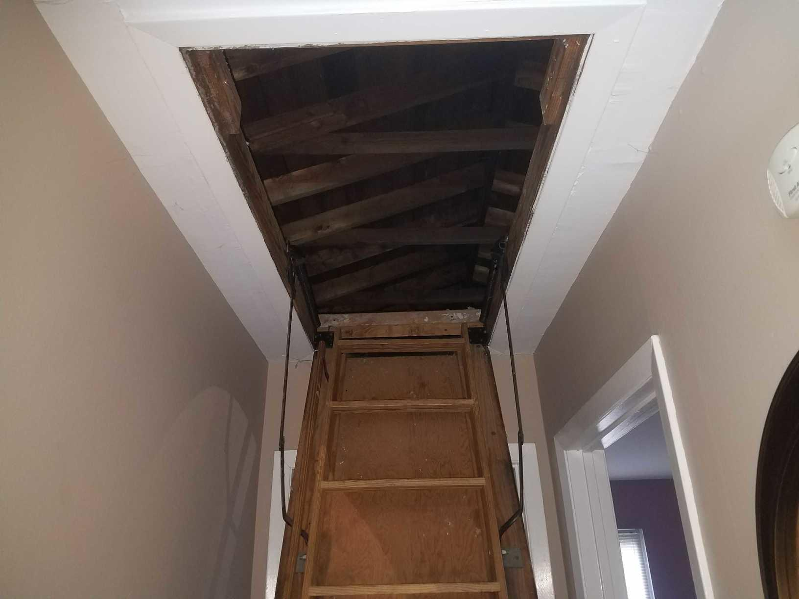 Attic Cover Provides Insulation in Woodbridge, NJ - Before Photo