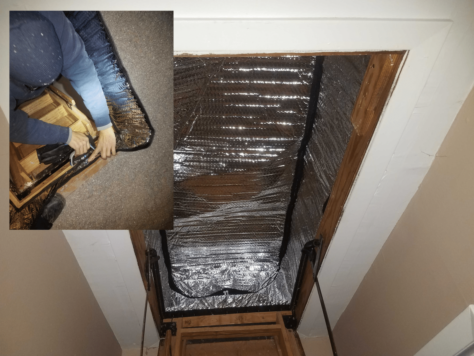 Attic Cover Provides Insulation in Woodbridge, NJ - After Photo