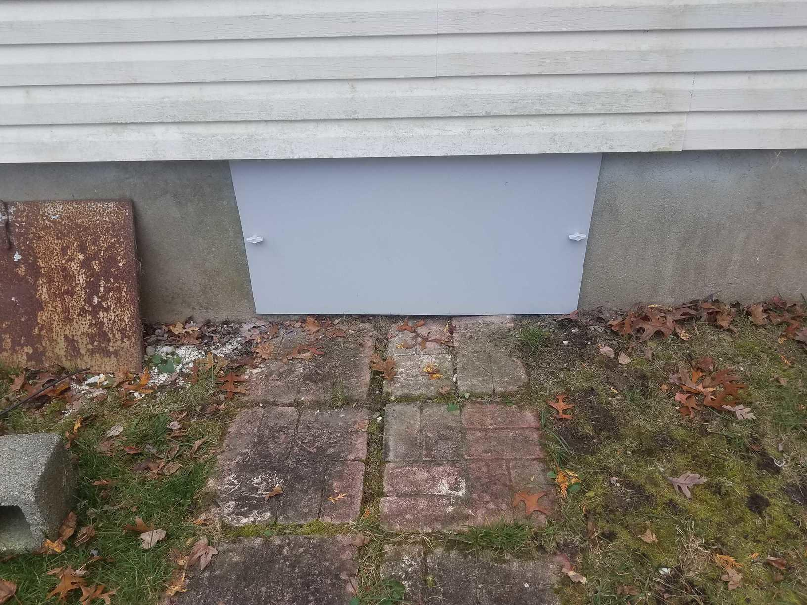Old crawl space door replaced in Deal, NJ - After Photo