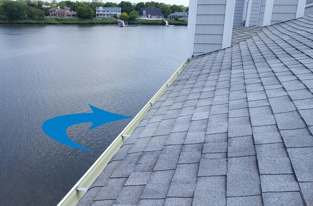 Beach Haven, NJ home gets bird spikes on gutters - Before Photo