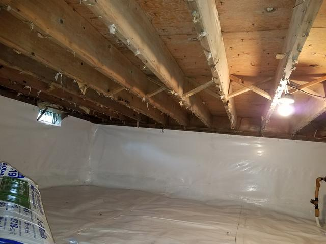 Added insulation in Brielle, NJ crawl space keeps client warmer