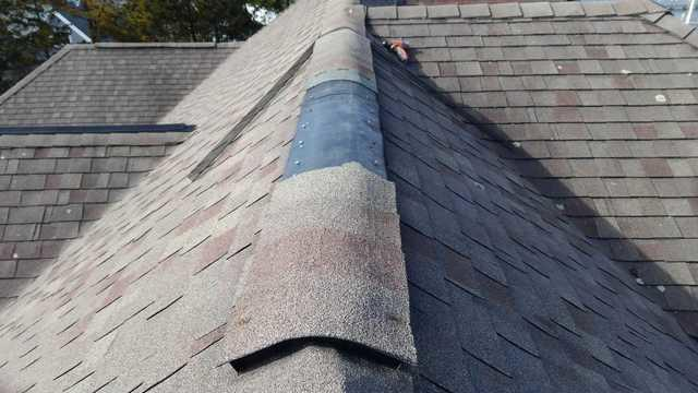 Storm damages roof shingles in Point Pleasant Beach, NJ