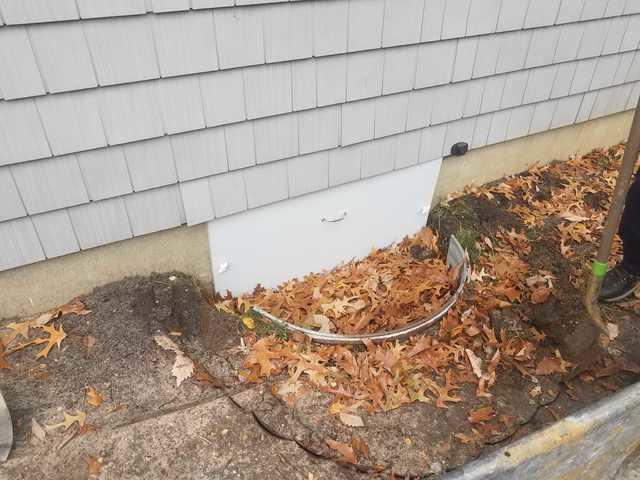 Water leakage into crawl space solved in Brick Township, NJ - Before Photo